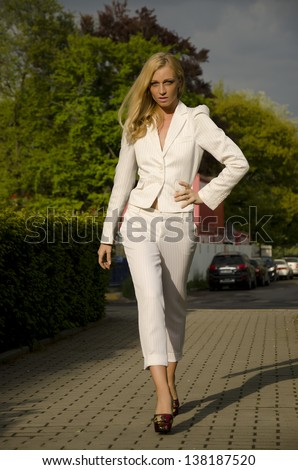 Blonde young business woman