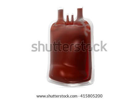 Blood bag.3d render