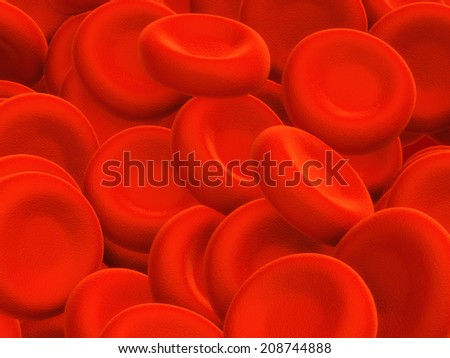 Blood cells - 3d render - stock photo