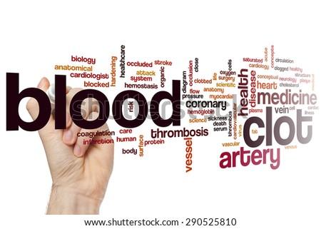 Blood clot word cloud concept - stock photo