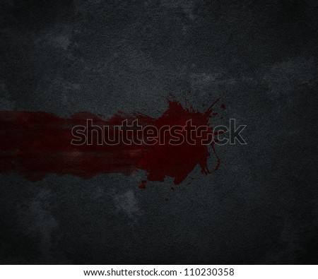 Blood Crime Scene - stock photo