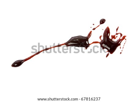 Blood drips isolated on white - stock photo