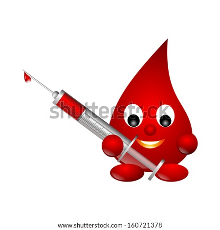 blood drop - stock photo