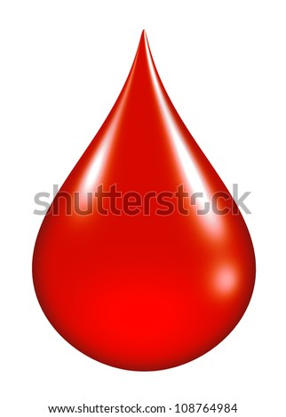 blood drop isolated - stock photo