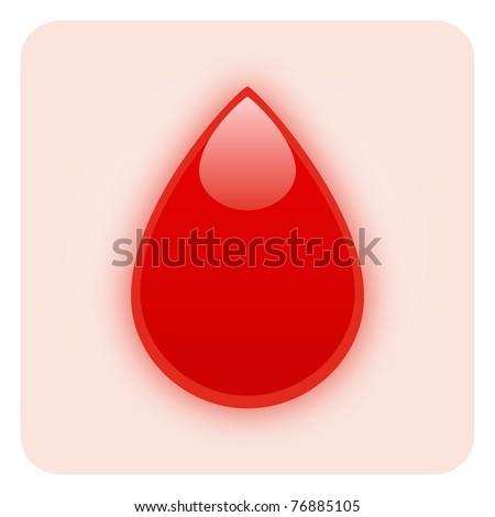 Blood Drop - Medical Symbol - stock photo
