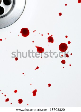 blood in the sink - stock photo