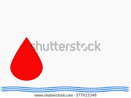 blood is thicker than water - stock photo
