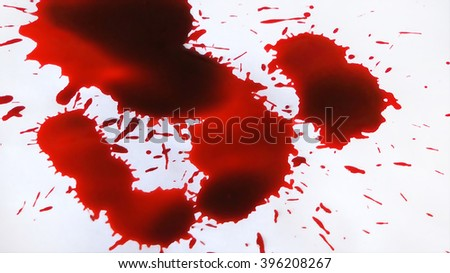 Blood on the White floor