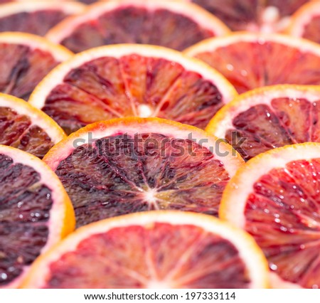 Blood Orangees as detailed close-up shot for background or texture use - stock photo