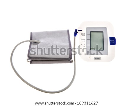Blood pressure cuff isolated on white background