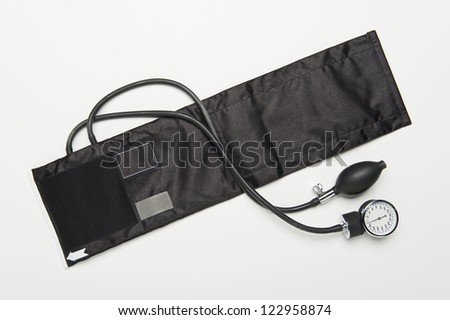 Blood pressure equipment isolated over white background