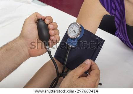 Blood pressure measure  - stock photo