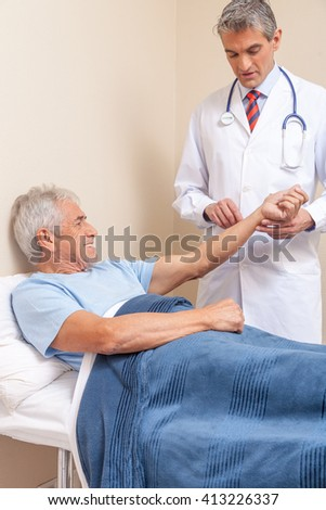 Blood pressure measuring. Doctor and patient. Hospital concept. Health care