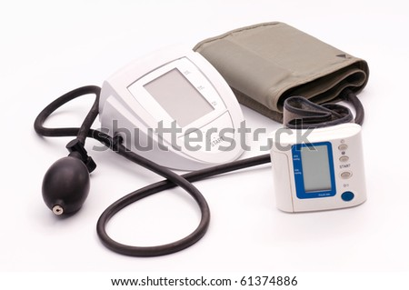 Blood-pressure meter on white the table