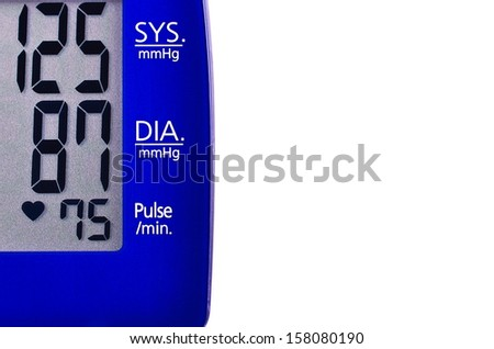Blood pressure readout - stock photo