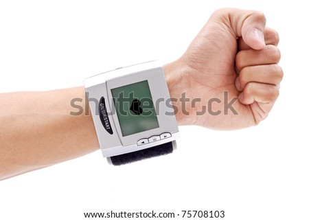 Blood Pressure Wrist Monitor - stock photo