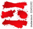 Blood red abstract icons with room to add your own text - stock photo