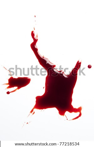 blood spatter on a white background