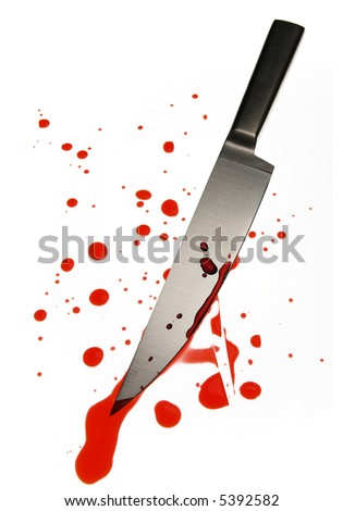 blood spattered knife