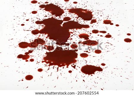 Blood splashes splatter trash background - stock photo