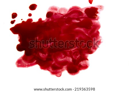 Blood stain - stock photo