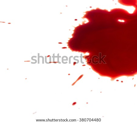Blood stains on white background - stock photo
