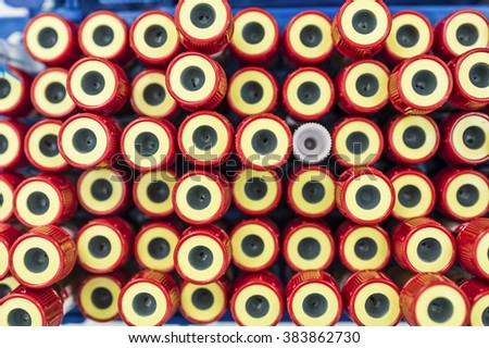 Blood tube for testing in laboratory - stock photo