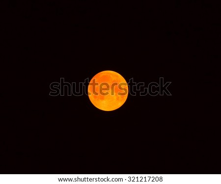 Bloodmoon - 2015-09-28 - stock photo