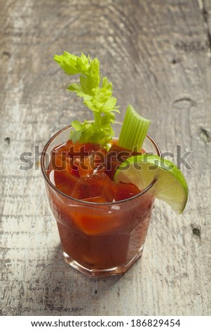 Bloody mary cocktail - stock photo