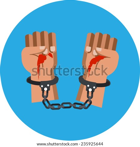 Bloody Murderer Hands - stock photo