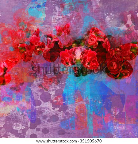 blooming flowers background - stock photo