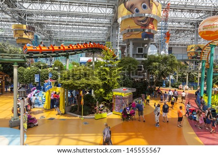 BLOOMINGTON, MN - JULY 06,  - Mall of America on July 06, 2013  in Minnesota. The Mall of America received $250 million in tax breaks to help pay for the huge expansion that is underway.