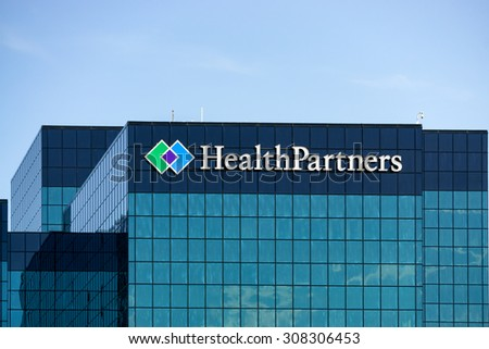 BLOOMINGTON, MN/USA - August 12, 2015: HealthPartners headquarters building. HealthPartners is an integrated, nonprofit health care provider.
