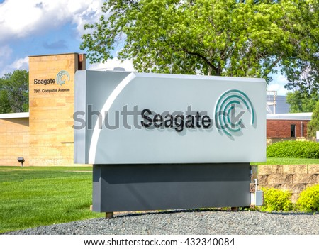 BLOOMINGTON, MN/USA - MAY 29, 2016: Seagate manufacturing facility. Seagate Technology is an American data storage company.