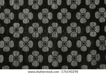 blossom pattern background, black and white