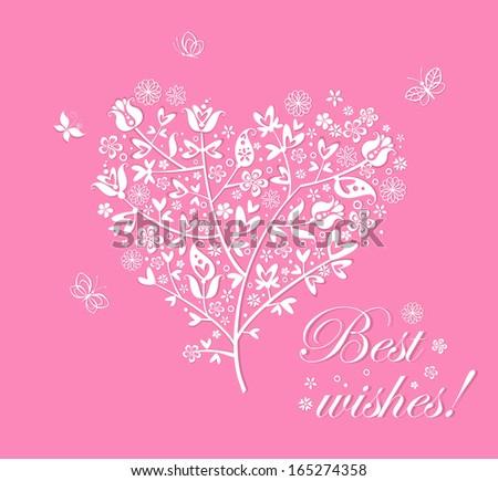 Blossoming tree. Raster copy - stock photo