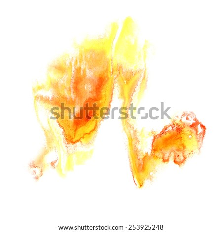 Blot divorce illustration yellow, red artist of handwork is isolated on white background