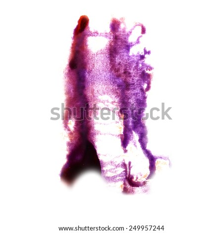 Blot divorce The lilac illustration artist of handwork is isolated on white background (3)