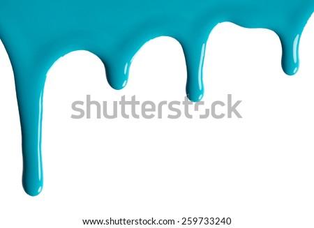 Blot of blue nail polish isolated on white background - stock photo