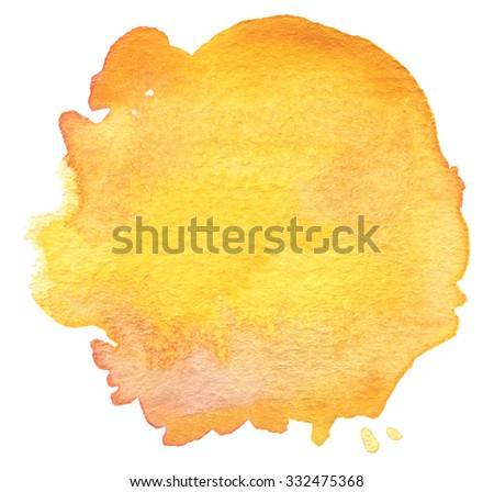 Blot watercolor painted background. Paper texture. - stock photo