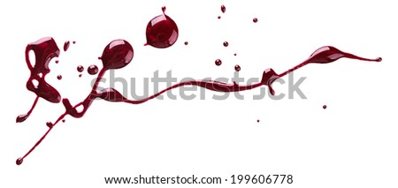 Blots of nail polish isolated on white background