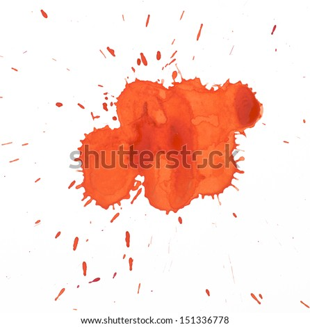Blots, watercolour abstract painted background  - stock photo