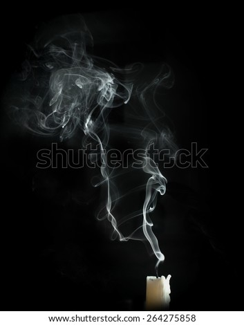 blown candle - stock photo