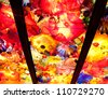 Blown glass by Dale Chihuly in the Chihuly Garden and Glass, Seattle WA - stock photo