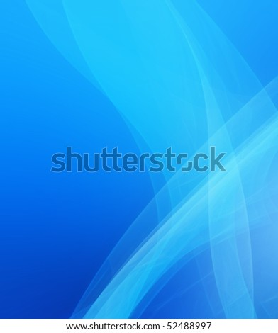 Blue abstract bachground -A 3D rendered illustration of a semitranspasrent blue object.
