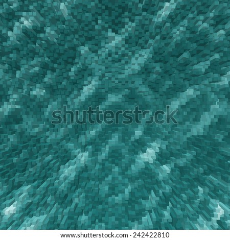 blue abstract background, 3d cube pattern