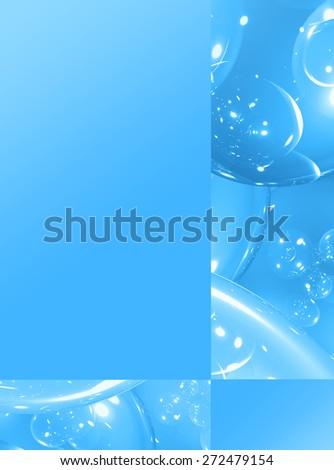 Blue abstract background, element for design brochure, catalog, website. 5 - stock photo