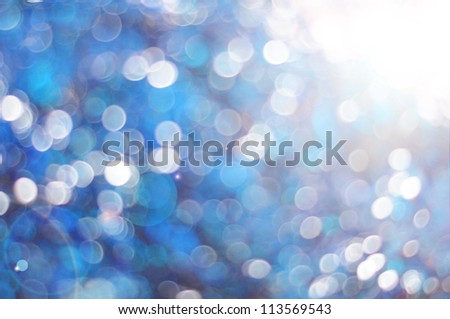 Blue abstract background with bubbles