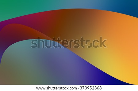 blue abstract background with gold curved lines and layers pattern - stock photo