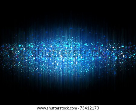 Blue abstract background with shock wave